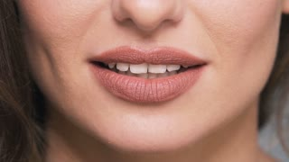 Close up portrait of woman's lips