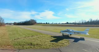 4K Aerial Airport Plane Taxiing Pre Flight Check Operated With Permission