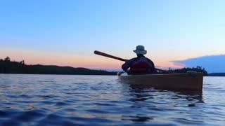 Boundary Waters Pristine Lake Kayak Paddling