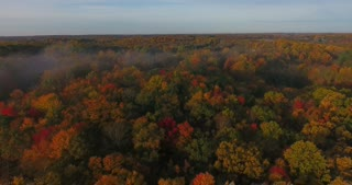 Fall Colors Aerial Morning
