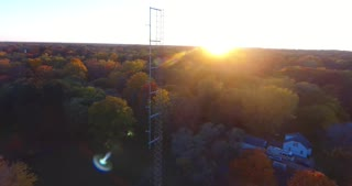 Fall Colors Radio Tower Aerial Circle