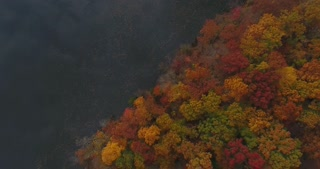 Fall Colors River Aerial