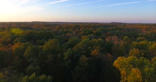 Fall Evening Aerial Flyover