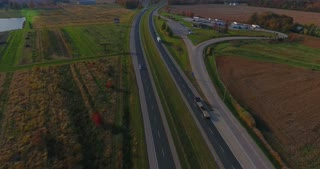 Fall Highway Vehicle Aerial
