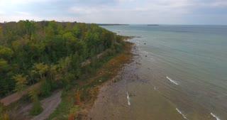 Lake Michigan Aerial Fall Flyover