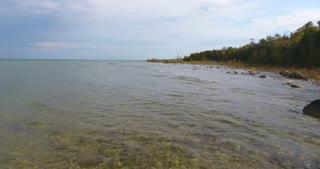 Lake Michigan Aerial Fall Push In