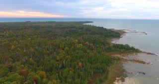 Lake Michigan Fall Aerial