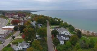 Petoskey Michigan Aerial Lake Michigan