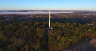 Radio Tower Morning Flyby Aerial