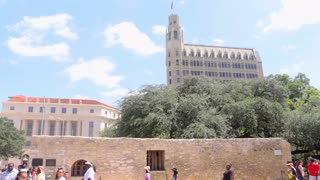 The Alamo Historic Tourist Pan Down
