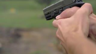 4K 44Mm Hand Gun Shooting Target Bullets Shells Fight Scene Explosion