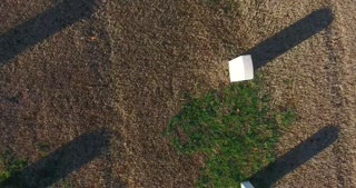 4K Aerial Military Cemetary Nashville National Cemetery Flyover Tennessee Graveyard Graves Top Down
