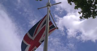 4K British Flags Leading Into Buckingham Palace London England Capital