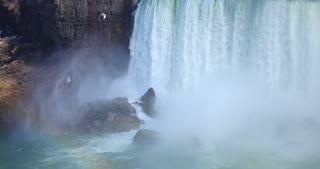 4K Niagria Falls Mist Cloud City Waterfall Gull Rainbow