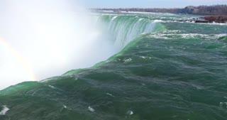 4K Niagria Falls Mist Cloud Waterfall Gulls Water Flowing