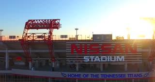 4K Nissan Stadium Tennessee Titans Football Game Sunrise Jib Shot Push In
