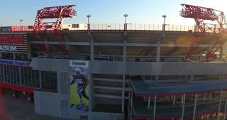 4K Nissan Stadium Tennessee Titans Football Game Sunrise Jib Shot Rising