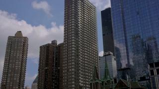 4K Nyc Skyscrapers Gimbal Shot New York City Urban Hi Rise Buildings