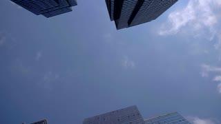 4K Nyc Skyscrapers Spining Shot New York City Urban Hi Rise Buildings