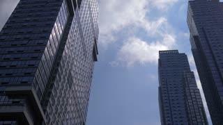 4K Nyc Urban Hi Rise Buildings Gimbal Shot New York City