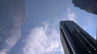 4K NYC Urban Hi-Rise Buildings Steady Shot New York City