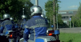 4K Police Motorcycle Squad Germany