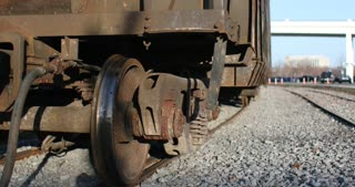 4k Train Car Wheels Slider Shot Tracks Stock Video Footage