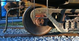 4K Train Car Wheels Slider Shot Tracks