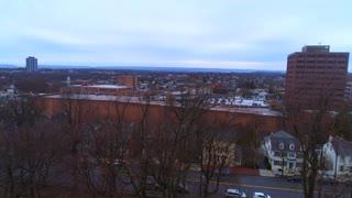 Aerial Bethlehem Pa Flyover Pennsylvania Industry Growing City