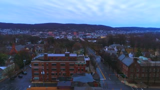 Aerial Bethlehem Pa Moravian Mission Outpost Flyover Pennsylvania City