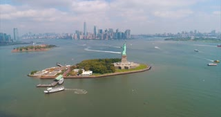 Aerial Statue Of Liberty New York City Skyline Helicopter Tour