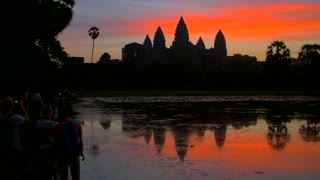 Angkor Wat Sunrise Cambodia Siem Reap Cambodia Countryside Town Tourism Asia Culture 4K