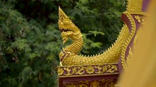 Buddhist Temple Golden Dragon Evil Spirits Animism Gold