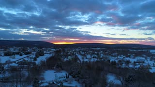 Drone Harpers Ferry West Virginia History Cinematic Drone Snow