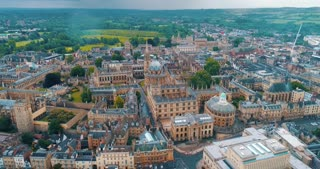 Drone Oxford College England Aerial