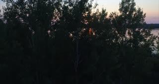 Ely Minnesota Lake At Sunset Drone