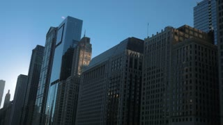 Epic Chicago City Panning Down Cinematic Slow Mo 4K