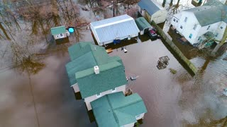 Flooding River Disaster Relief Hurricane Storm Residential Drone