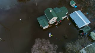 Flooding Search and Rescue Team Disaster Relief Hurricane Storm Residential Drone aerial