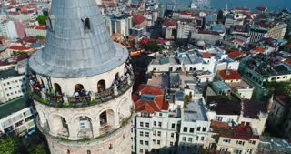 Galata Tower Istanbul Aerial Conclusion Shot Tv Commercial Diversity Culture Tourism Destination Holiday Travel Trump Ban Politics Turkey Middle East Asia