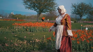 Holland Tulips Festival Traditional Dutch Clothing Authentic Candid Cinematic Slow Mo 4K