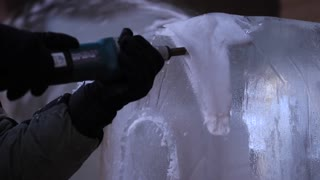 Ice Carving Drill Snowflake Pattern Chainsaw Design Slider Shot