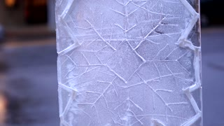 Ice Carving Snowflake Pattern Chainsaw Design Slider Push In