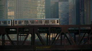 Incredible City Train Chicago Metro Subway Bustling Street Authentic Urban Nyc New York 4K