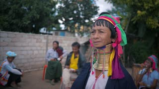 Incredible Long Necked Tribe Myanmar Golden Land Culture Cinematic 4K