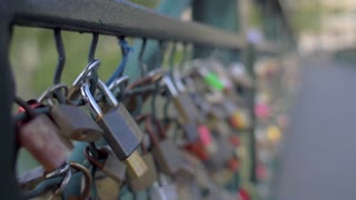 Love Locks Zurich Switzerland Bridge