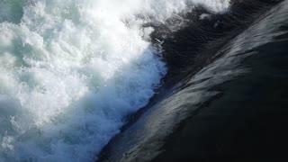 Slow Mo Water Surging Down Over Spilway River Splashing Niagara Canada