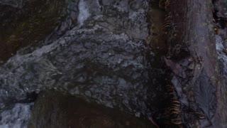 Slow Mo Waterfall Rapids Splashing Over Rocks Jib Move