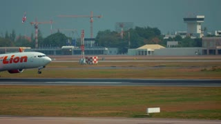 Thai Lion Airlines Touches Down On Runway Smoking Tires Travel Adventure Authentic 4K