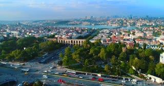 Valens Aqueduct Aerial Istanbul Turkey Roman Empire Middle East Asia Byzantium Drone Shot
